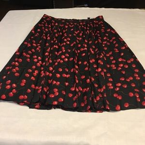 J Crew midi skirt with pleats